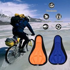 Soft Silicon Bike Saddle Seat Cushion Cover