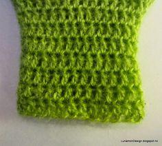 Tutorial Crochet - Steg for steg Hekling - tøyelig oppleggskant