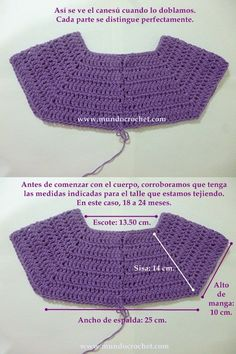 Como tejer un saco, campera, cardigan o chambrita a crochet o ganchillo desde el This will work to start some of the dresses with no patterns. Gilet Crochet, Crochet Yoke, Crochet Girls, Crochet Baby Clothes, Crochet Cardigan, Crochet For Kids, Easy Crochet, Crochet Stitches, Crochet Hats