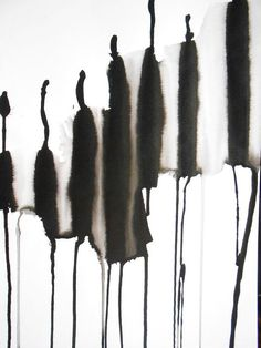 ooak zen black and white ink wash painting by manjuzaka on etsy pen brus Black And White Painting, Black White Art, White Ink, Ink Wash, Mark Making, Abstract Watercolor, Japanese Art, Art Drawings, Art Pieces