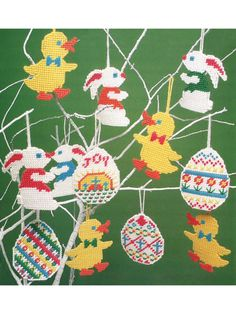 Easter Ornaments in Plastic Canvas patterns