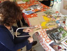 "workshop ""collage op hout"" 17/1/2015"