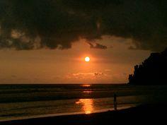 Beautiful Sunset at Playa Dominical Costa Rica