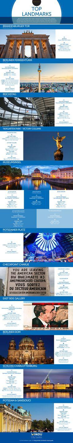 Berlin's top landmarks: #infographic http://www.earthsattractions.com/berlins-top-landmarks-infographic/ #Berlin #Germany #Europe #travel