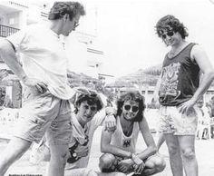 Hombres G en Ibiza antes de su concierto de 1989 en KU.