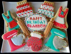 birthday baking cookies