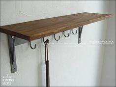 Teak Furniture V_SKitchente チークウッドハングラック 鉄フック 北欧無垢 インテリア 雑貨 家具 Modern ¥6190yen 〆05月11日