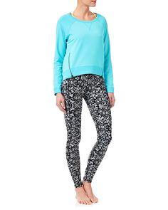 Finsbury Sweat L/Slv Top - TropicBlue | long sleeved tops | Sweaty Betty