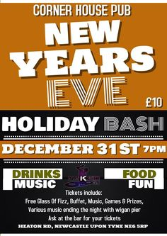 New years eve party 2016 only 60 tickets available, music, games & prizes.