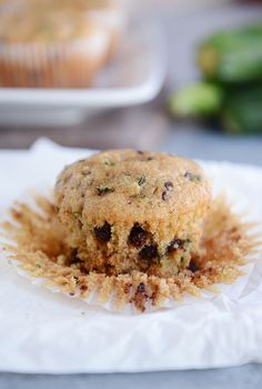 Whole Grain Chocolate Chip Zucchini Muffins | Mel's Kitchen Cafe