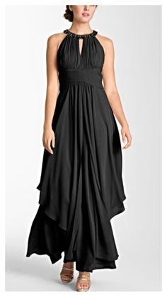 Black chiffon halter dress at Nordstrom