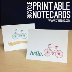 seven thirty three - - - a creative blog: Frameable Bike Art {Free Printables}