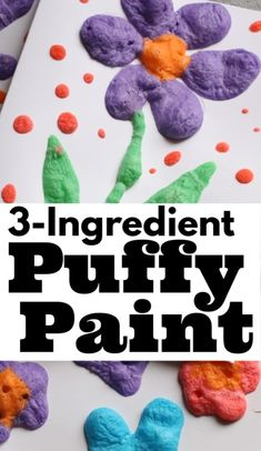 Homemade Puffy Paint - 3 Kitchen Ingredients