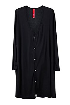 ByTheR Men's Fashion Basic Loose Slim Sleeve One Size Long Cardigan Black Men's Fashion -- Learn more by visiting the image link.
