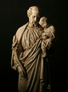 Statue of Saint Joseph with The Baby Jesus