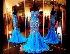 Turquoise completely beaded Mermaid-Sweetheart Neckline-Beaded Straps-115JC050600