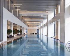 Exercise in style at Hyatt Regency Jinan's 32-metre indoor lap pool.