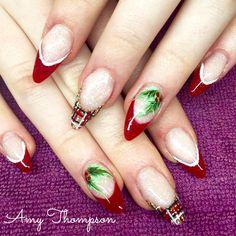 Christmas and tartan nails