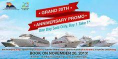 Kota Kinabalu, One Day Sale, Sanya, 20th Anniversary, Buy 1, Cruises, Edm, Philippines, Superstar