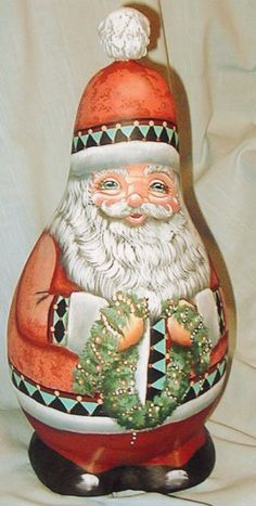 "gourd - ""Garland Orange Santa""  by Lola Stude"