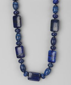 Take a look at this Blue Lapis Square Stone Necklace by Gardenia Jewelry on #zulily today!