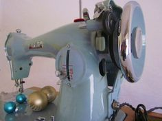 Blue sewing machine, this is fate telling me it needs to go in my new room