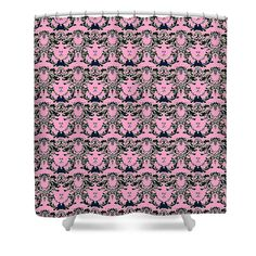 #fabric #british-west-indies #fairytale #pink #homedecor #personal-accessories Shower Curtain featuring the digital art British West Indies-sweet Dreams by PageArtWorks