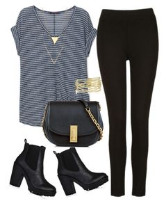 """""""black striped"""" by freshdee on Polyvore featuring Violeta by Mango, Marc Jacobs and stripedshirt"""