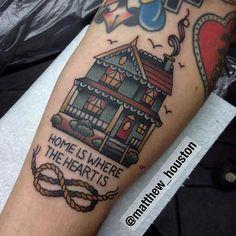 House tattoo old school