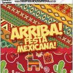 Molde Quadrado Festa Mexicana