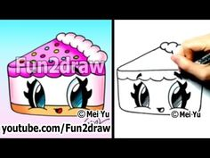 Cute Drawings - How to Draw Kawaii Cartoons - Cake