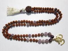 Rudraksha-Buddhism-Purple-jade-Bead-Meditation-108-Yoga-Prayer-Mala $44.00
