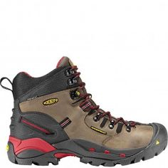1007024 KEEN Men's Pittsburgh Safety Boots - Bison www.bootbay.com