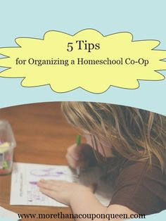 Have you ever considered organizing a homeschool co-op? I have put together 5 tips to help you put it together.