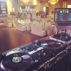 All ready to rock this  wedding reception tonight @crownpalace Banquet #dj #djflamezvancouver #turntablism #plx #djms9 #crownpalace #surrey #tmcelebrationoflove by dj_flamez_