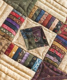 Scrappy Churn Dash Quilt FREE pattern and tutorial