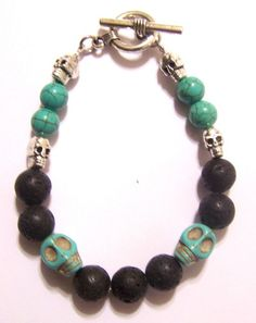 turquoise and lava beads (without the skulls please)