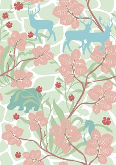 Hanna Werning - Wall paper in sweet pastels