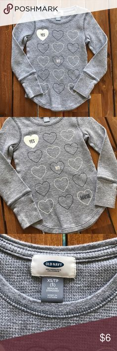 Girls Old Navy Long Sleeve Tee Good Condition // Great Valentines Shirt Old Navy Shirts & Tops Tees - Long Sleeve