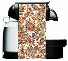 06-049 Floral - Decofi - Decoración de cafeteras Nespresso | Adhesivos para Nespresso | Personalizacion Nespresso. shop.decofi.com