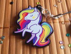 Fantasy Rainbow Unicorn Acrylic Charms with Phone by ShinePaw