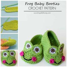 Frog Baby Booties Crochet