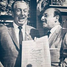 • The King of Disneyland and the Mayor of the city of New Orleans (Vic Schrio) during the grand opening of New Orleans Square, July 24, 1966. Pirates opened the next year and Mansion in 1969.