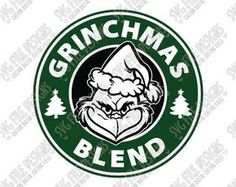 Grinch Starbucks Logo SVG Cut File Set for Custom How The Grinch Stole Christmas Mugs in SVG, EPS, DXF, JPEG, and PNG for Cricut and Silhouette Machines