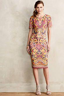 Pieced Brocade Dress - anthropologie.com