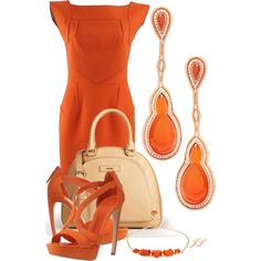 A fashion look from January 2013 featuring structured dress, strap heel sandals and satchel style handbags. Browse and shop related looks. Classy Outfits, Chic Outfits, Beautiful Outfits, Spring Outfits, Fashion Outfits, Womens Fashion, Fashion Trends, Fashionista Trends, Work Outfits