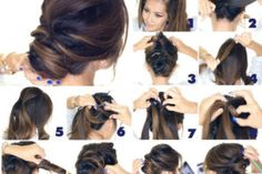 Easy nape making in 5 5 dakikada kolay ense topuzu yapımı Easy nape making in 5 minutes - Graduation Cupcakes, Prom Hair, Braids, Braid Hair, Braided Hairstyles, Hair Beauty, Hair Styles, Face, Knob