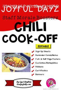 cc7193ecd78 JOYFUL DAYZ (Staff Morale Boosters) CHILI COOK-OFF