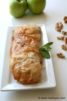 Traditional Austrian Apple Strudel Recipe (with step by step pictorial) Austrian Recipes, Hungarian Recipes, Austrian Desserts, Austrian Food, Hungarian Food, Delicious Desserts, Dessert Recipes, Yummy Food, Apple Recipes