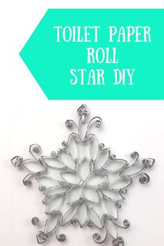 Toilet paper roll star DIY Toilet paper roll crafts, toilet paper roll DIY, toilet paper roll wall decor